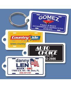 Custom Mini License Plate Key Fob / Key RIng