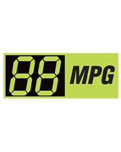 Changeable Digit Decals: Mpg