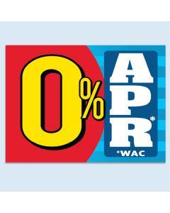 Clip-On Car Window Flag 0% APR Red Yellow Blue