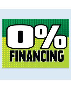 Clip-On Car Window Flag 0% Financing Green
