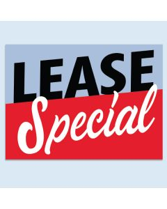 Clip-On Car Window Flag Lease Special Blue Red
