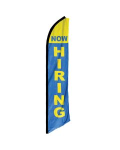 Now Hiring Swooper Flag in front of store