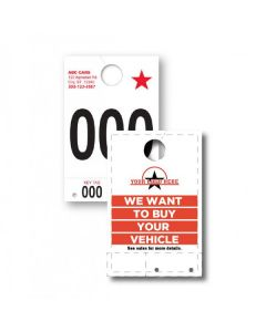 Custom Full-Color 5 Part Service Tag Numbers