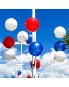 Premium Reusable Balloon Light Pole Kit on light pole over an auto dealership