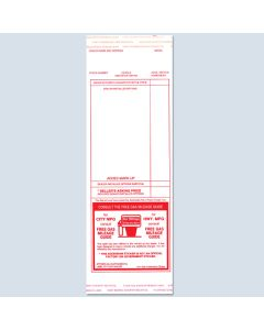 Red Addendum Stickers 100 Per Pack