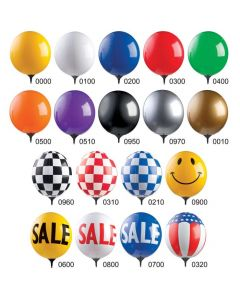 Reusable Window Balloons colors styles
