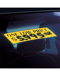 Windshield Stickers: One Low Price on car windshield in car lot