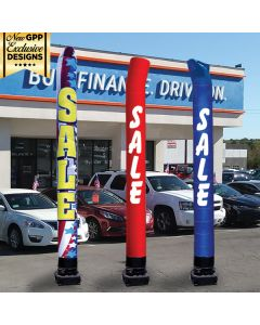 Digital Message Tube: 18 ft in front of auto dealership