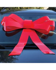 Windshield Bow: Red on auto in car dealership
