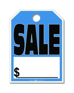 Hang Tag Sale in Blue and Black