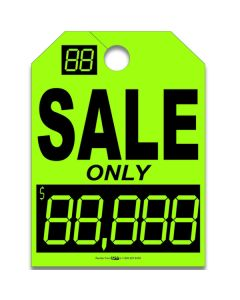 Hang Tag Color-In Black on Green SALE Only