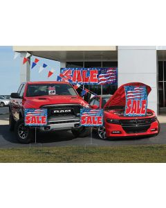 Complete Sales Event Packages on vehicles in an auto dealership