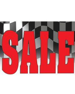 Curb Sign red sale checkered flag
