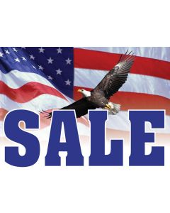 Curb Sign blue sale patriotic eagle