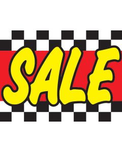 Clip On Car Window Flags: Exclusive yellow SALE red check