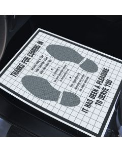 Paper Floor Mats with Plastic Backing - Pack of 500