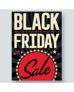 Underhood Signs: Black Friday SALE off-white red on black