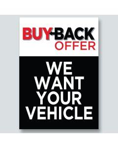"""Buy Back Offer"" Underhood Signs"
