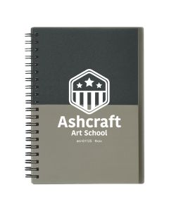 TWO-TONE SPIRAL NOTEBOOK gray