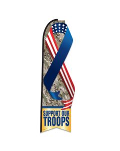 Support Our Troops Swooper Flag