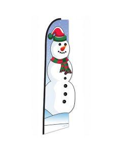 Snowman Die-Cut Swooper Flag