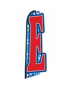 E Die-Cut Swooper Flag