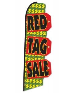 Die Cut Swooper: Flag Only Red Tag SALE red black green yellow