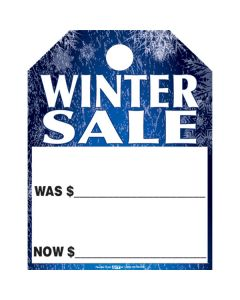 Theme Hang Tags: Winter Sale blue white