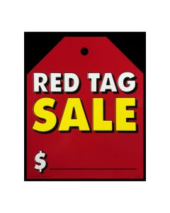 Stickers: Extra Large Hang Tag Red Tag Sale Red with Yellow