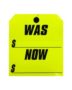 Stickers: Large Hang Tag Was Now Fluorescent Yellow