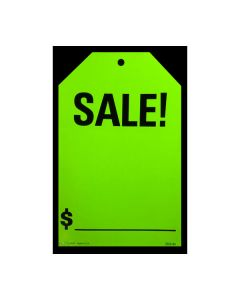 Stickers: Hang Tag Sale Fluorescent Green