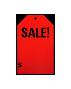 Stickers: Hang Tag Sale Fluorescent Red