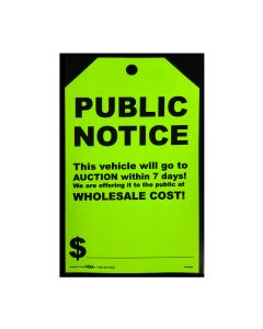 Stickers: Hang Tag Public Notice Fluorescent Green