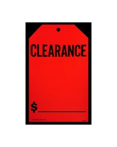 Stickers: Hang Tag Clearance Fluorescent Red