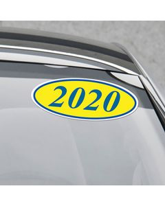 4 Digit Oval Years on car 2020