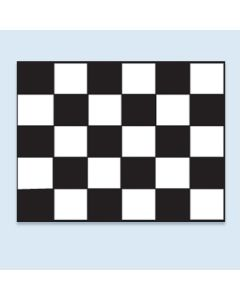 Clip On Car Window Flags: checkered black white