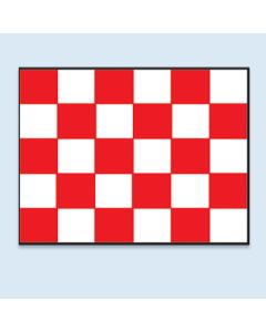 Clip On Car Window Flags: checkered red white