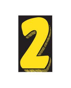 "VINYL PRICERS: #2 YEL/BLK 7.5"""