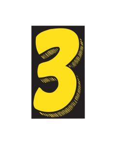 "VINYL PRICERS: #3 YEL/BLK 7.5"""